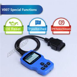 V007 voor VW, Audi, Seat, Skoda en OBD2 voertuigen