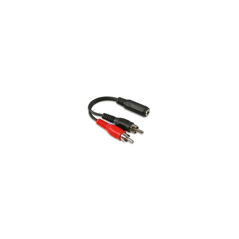 Aux naar RCA kabel. 3,5mm aux female naar RCA male