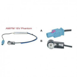 Buildings male to ISO aerial adaptor with amplifier