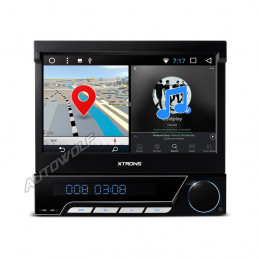 D771A 1DIN 7-inch klapscherm Android car radio with octa-core processor and 2gb of ram
