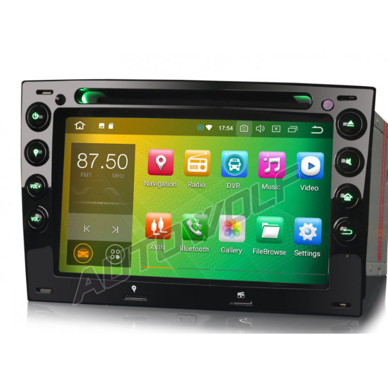 AW8691S2 7 inch Android autoradio navigatie voor Renault Megane, multimedia car pc met DAB