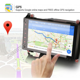 AW9218S 9 inch Android 8 navigatie voor Mercedes, multimedia car pc octa core, 2GB ram, 32GB Rom