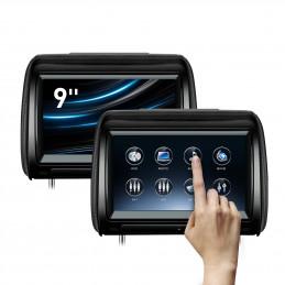9 inch hoofdsteun dvd speler met touchscreen en verwijderbare afsluitrits
